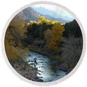 Photographing Zion National Park Round Beach Towel