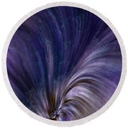 Photonic Cascade At The Sea Of Solitude Round Beach Towel