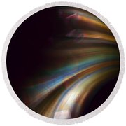 Photons From The Edge Round Beach Towel