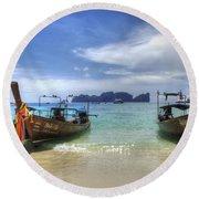 Phuket Koh Phi Phi Island Round Beach Towel by Bob Christopher