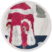 Physician, 15th Century Round Beach Towel