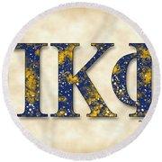 Pi Kappa Phi - Parchment Round Beach Towel