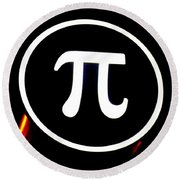 Pi Round Beach Towel