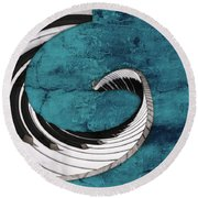 Piano Fun - S02a Round Beach Towel by Variance Collections