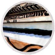 Piano In The Dark - Music By Diana Sainz Round Beach Towel