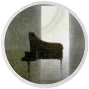 Piano Room 2005 Round Beach Towel by Lincoln Seligman
