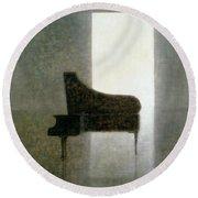 Piano Room 2005 Round Beach Towel