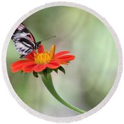 Piano Wings Butterfly Round Beach Towel