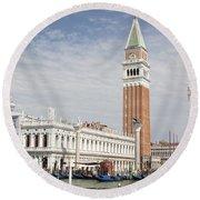 Piazza San Marco Round Beach Towel