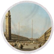 Piazza San Marco Looking South And West Round Beach Towel
