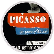 Picasso 40 Years Of His Art  Round Beach Towel