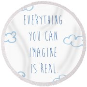 Picasso Quote Round Beach Towel