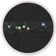 Pick Your Path Round Beach Towel