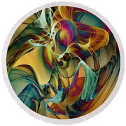 Picked Up By The Wind Round Beach Towel by Klara Acel