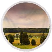 Pickets Charge - Gettysburg - Pennsylvania Round Beach Towel