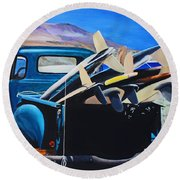 Pickup Truck Round Beach Towel