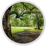 Picnic At The Park Round Beach Towel