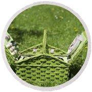 Picnic Basket Round Beach Towel