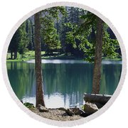 Picnic By The Lake Round Beach Towel