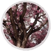 Picnic Rose  Round Beach Towel