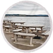 Picnic Tables Round Beach Towel