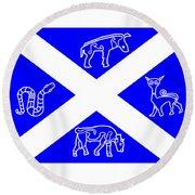 Pictish Scotland Flag 2 Round Beach Towel