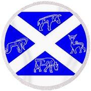 Pictish Scotland Flag Round Beach Towel