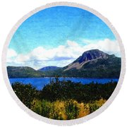 Picture Perfect In Painterly Style Round Beach Towel
