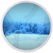Picture Perfect Landing Round Beach Towel