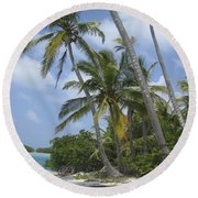 Picture Perfect Paradise Round Beach Towel