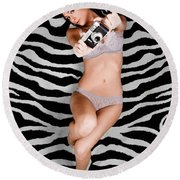 Picture This Round Beach Towel