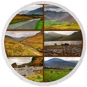Autumn Picture Window Of The Lake District Round Beach Towel