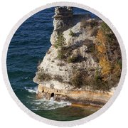Pictured Rocks National Lakeshore 2 Round Beach Towel