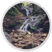 Picturesque Round Beach Towel by Laurie Search