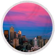 Picturesque Seattle Round Beach Towel