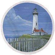 Pigeon Point Lighthouse Round Beach Towel