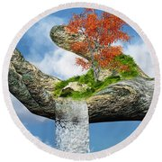 Piece Of Nature Round Beach Towel