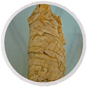 Pieced Sculpture From Perge In Antalya Archeological Museum-turkey Round Beach Towel