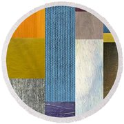 Pieces Parts Ll Round Beach Towel
