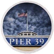 Pier 39 Round Beach Towel by Dave Bowman