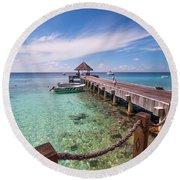 Pier Into Blue. Resort Vivanta By Taj Round Beach Towel