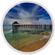 Pier To Paradise Round Beach Towel