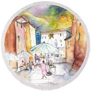 Pietrasanta In Italy 03 Round Beach Towel