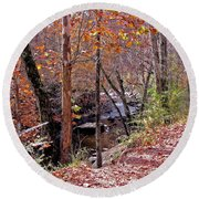 Pigeon Forge River Round Beach Towel