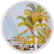 Pigeon Key - Home Round Beach Towel