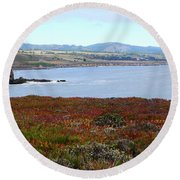 Pigeon Point Bay Round Beach Towel