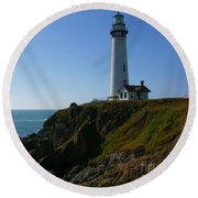Pigeon Point Light Station Round Beach Towel