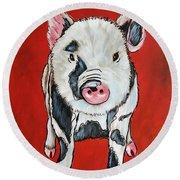 Piggy Round Beach Towel