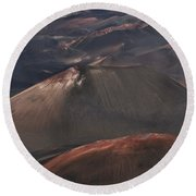 Pihanakalani Haleakala Volcano Sacred House Of The Sun Maui Hawaii Round Beach Towel