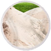 Pile Of Sand Round Beach Towel